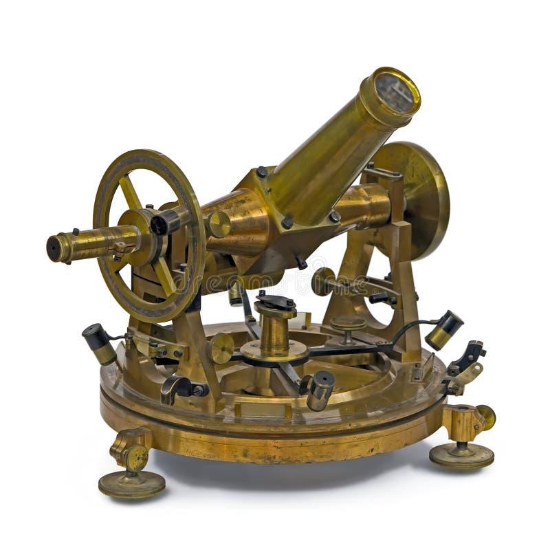 Instrumento de medição telescópico antigo imagens de stock