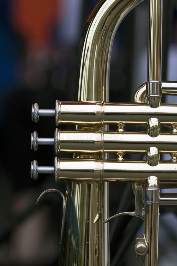 Instrumento de vento de bronze fotos de stock royalty free