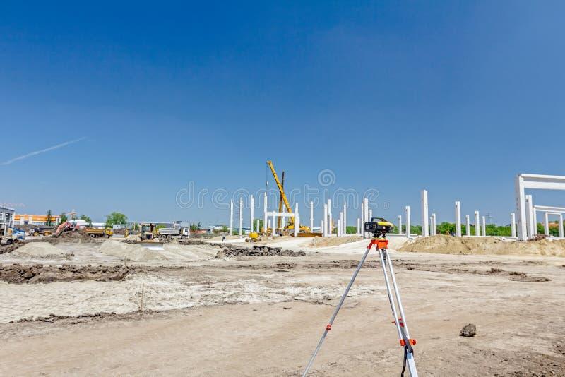 Instrumento del ` s del ingeniero civil, teodolito, equipo para el surv de la tierra fotografía de archivo