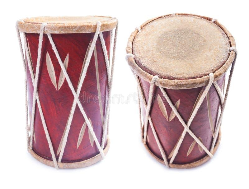 Instrumento do cilindro da percussão do Conga isolado foto de stock