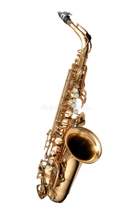 Instrumento do jazz do saxofone foto de stock royalty free