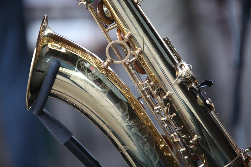 Instrumento do saxofone imagens de stock royalty free