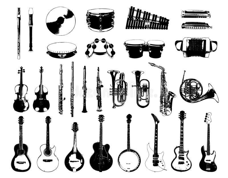 Instrumento musical ilustração stock