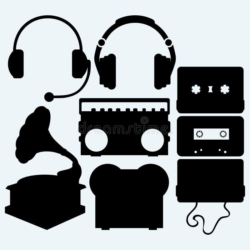 Instrumento musical ajustado ilustração royalty free
