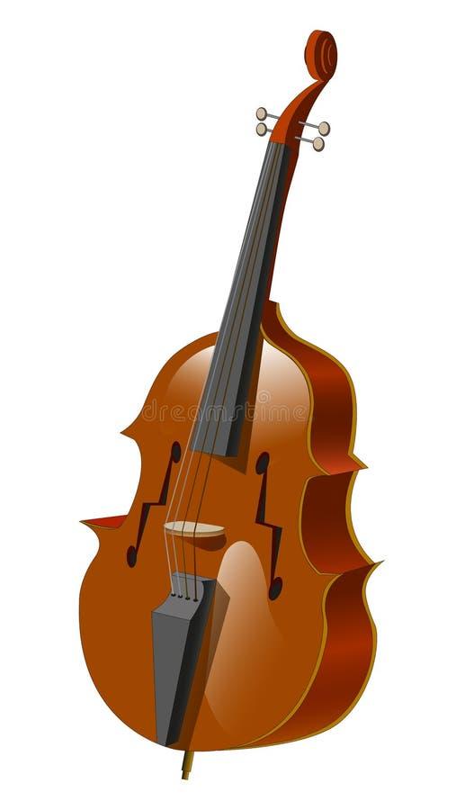 Instrumento musical arrancado - contrabaixo ilustração royalty free