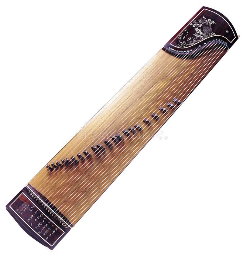 Instrumento musical de GuZhen fotografía de archivo libre de regalías