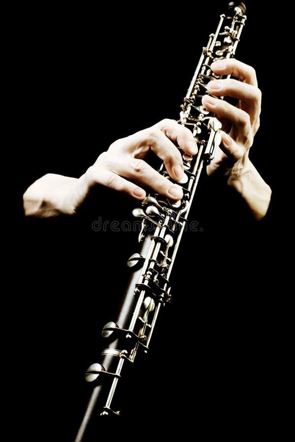Instrumento musical de Oboe de la orquesta sinfónica. fotografía de archivo