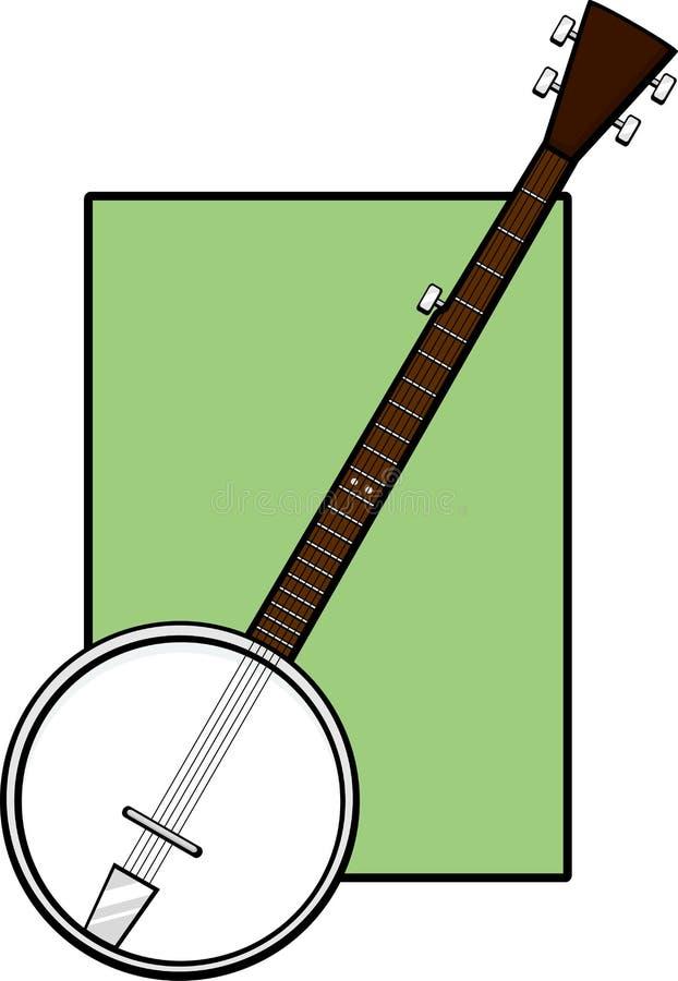 Instrumento musical do banjo ilustração do vetor