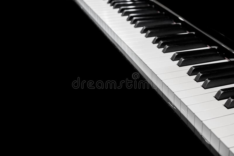 Instrumento musical do fundo do teclado de piano imagens de stock