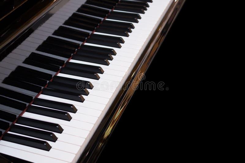 Instrumento musical do fundo do teclado de piano fotos de stock royalty free