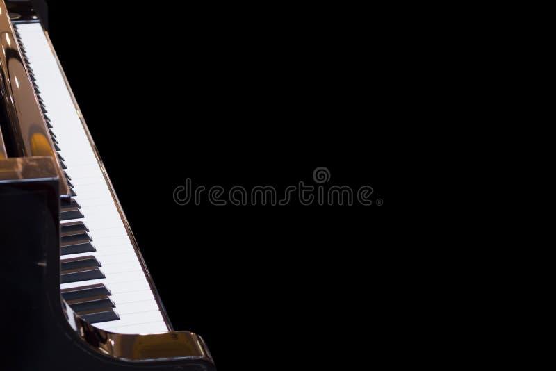 Instrumento musical do fundo do teclado de piano de cauda fotos de stock