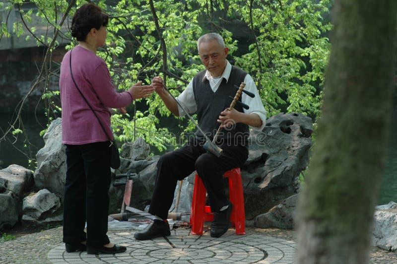 Instrumento musical Erhu imagens de stock royalty free