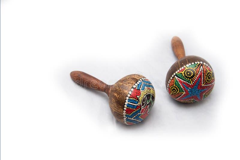 Instrumento musical tradicional feito de materiais naturais imagem de stock