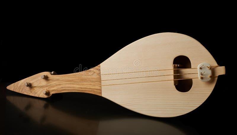 Instrumento musical tradicional griego, lyra de Thrakian imagen de archivo libre de regalías
