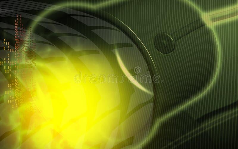 Instrumento simple para la transmisión de voz ilustración del vector
