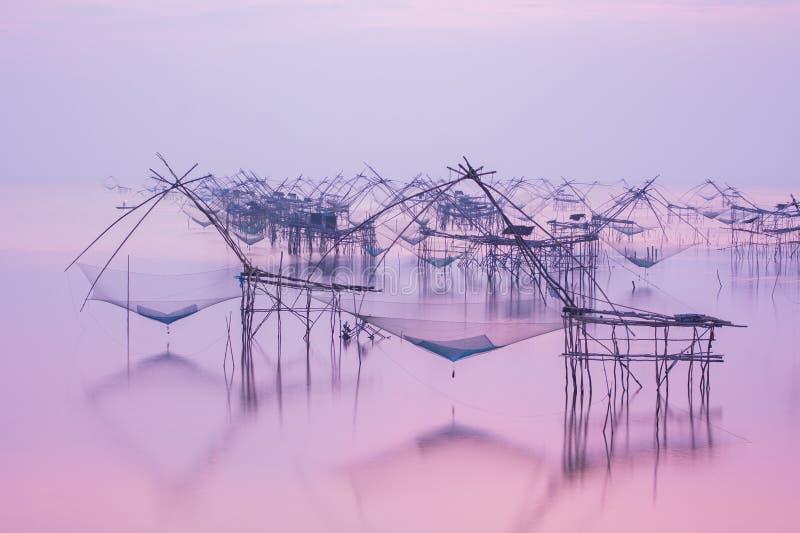 Instrumento tailandés 'Yor' de la industria pesquera foto de archivo