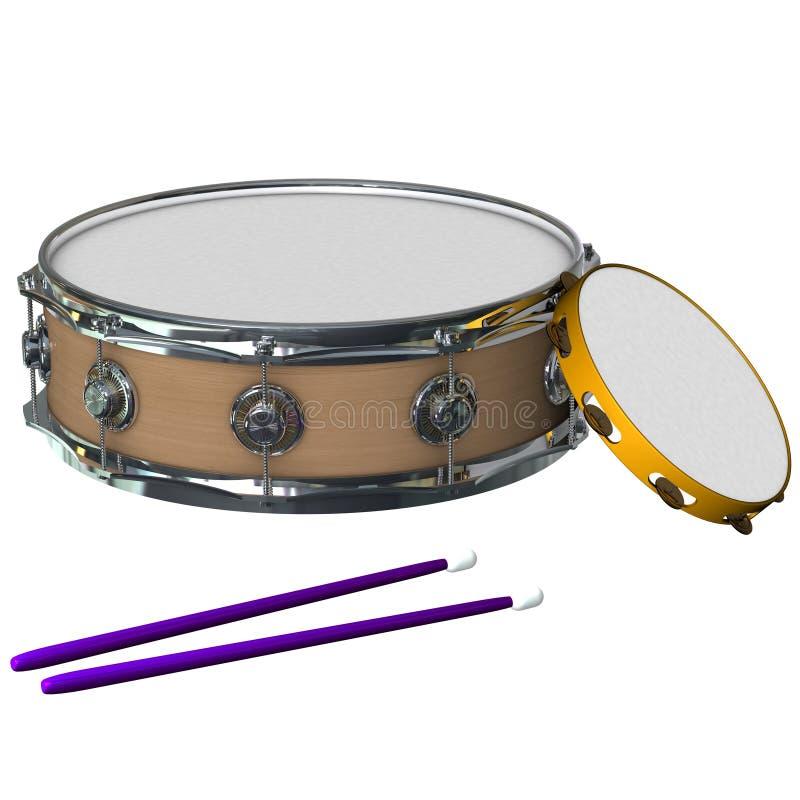 Instrumentoes de percusión ilustración del vector