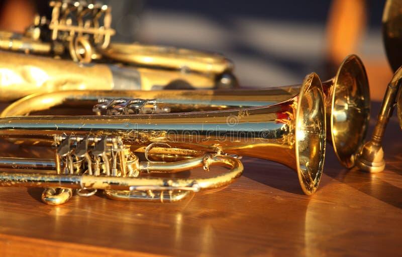 Instrumentoes de viento foto de archivo libre de regalías
