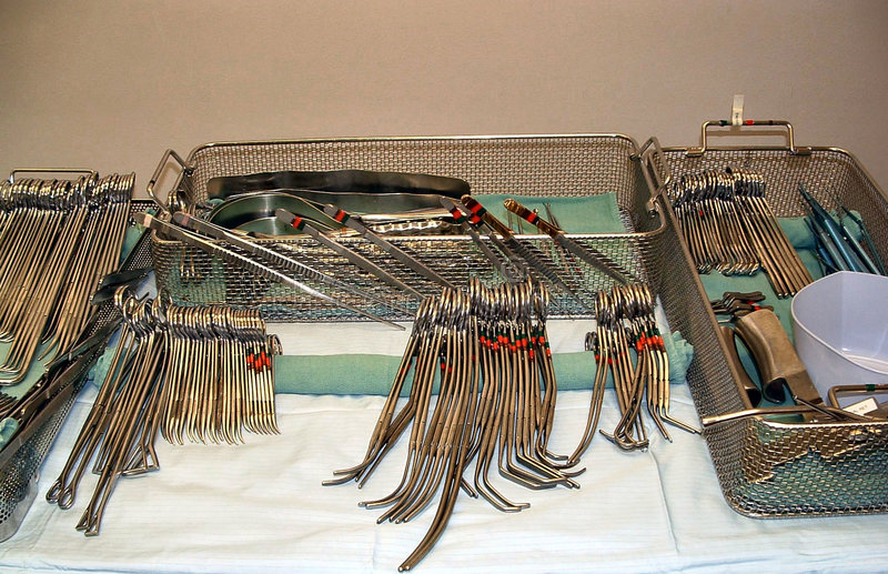 Instrumentos cirúrgicos imagens de stock royalty free