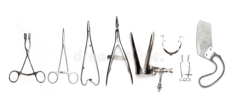 Instrumentos cirúrgicos imagens de stock