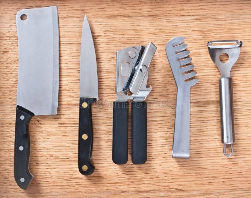 Instrumentos da cozinha foto de stock