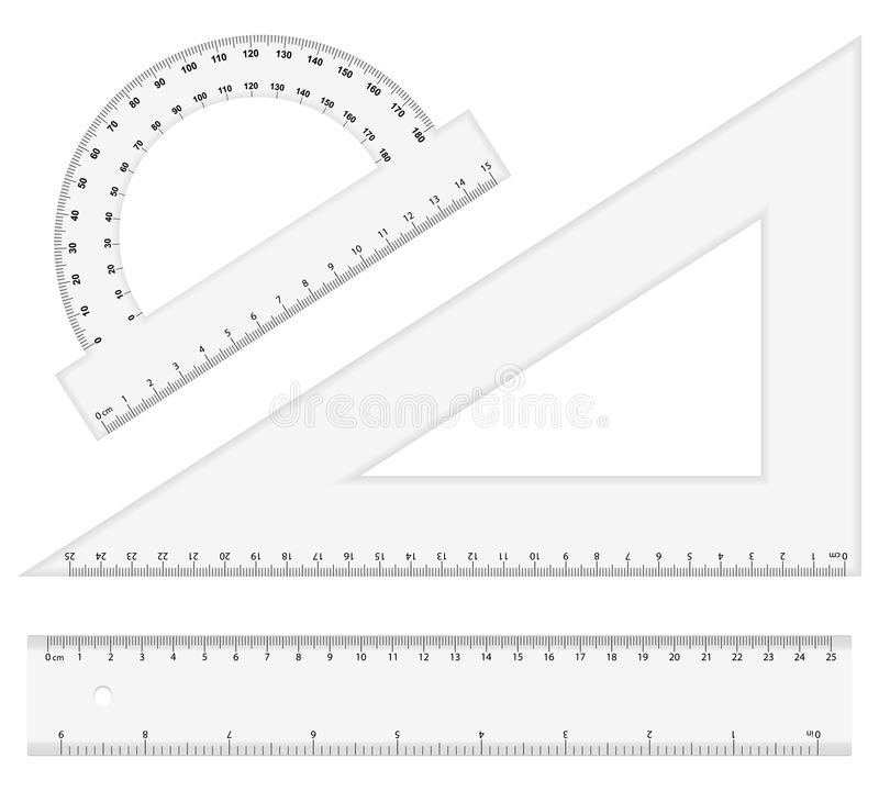 Instrumentos da régua ilustração stock