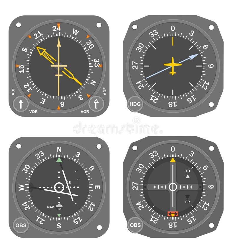 Instrumentos de aviones (#5) stock de ilustración