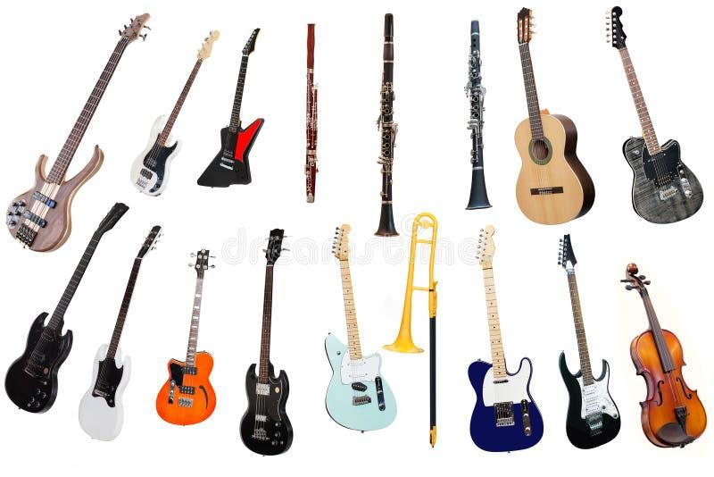 Instrumentos de música imagens de stock