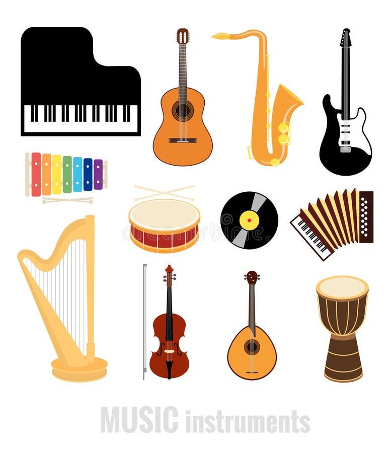Instrumentos de música ilustração stock