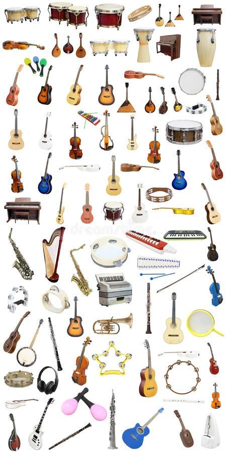 Instrumentos de música imagens de stock royalty free