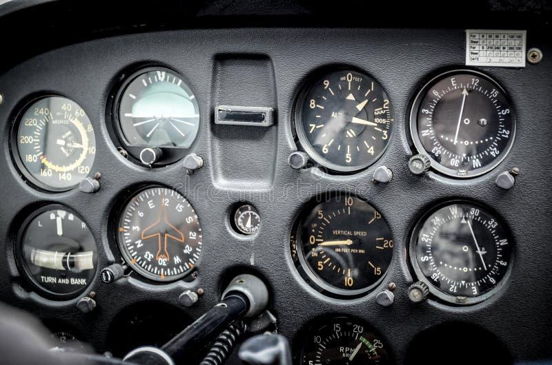 Instrumentos del aeroplano imagen de archivo