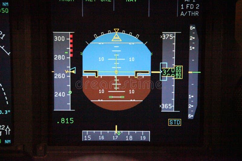 Instrumentos del vuelo de Digitaces fotografía de archivo libre de regalías