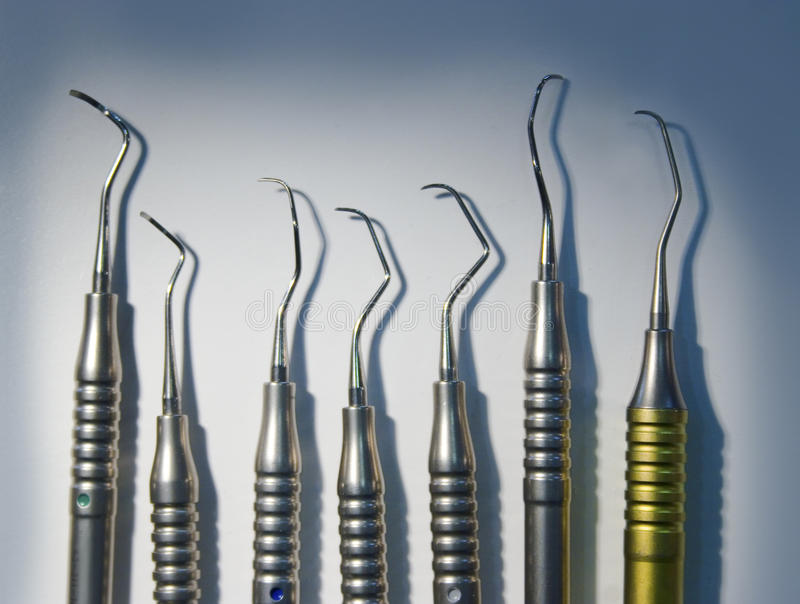 Instrumentos dentais médicos imagens de stock
