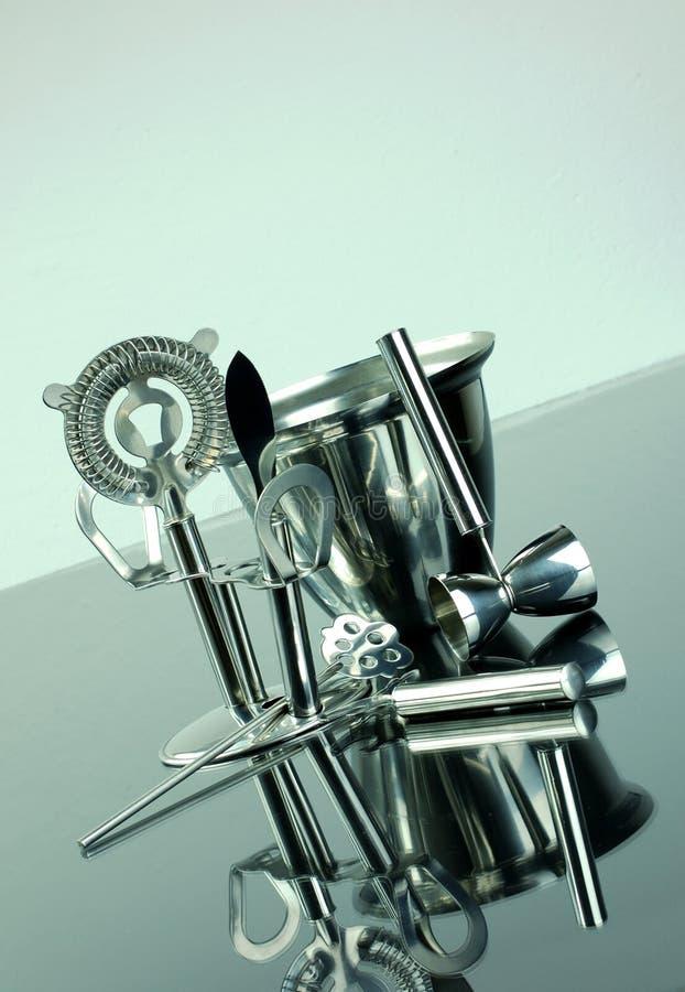 Instrumentos do cocktail foto de stock