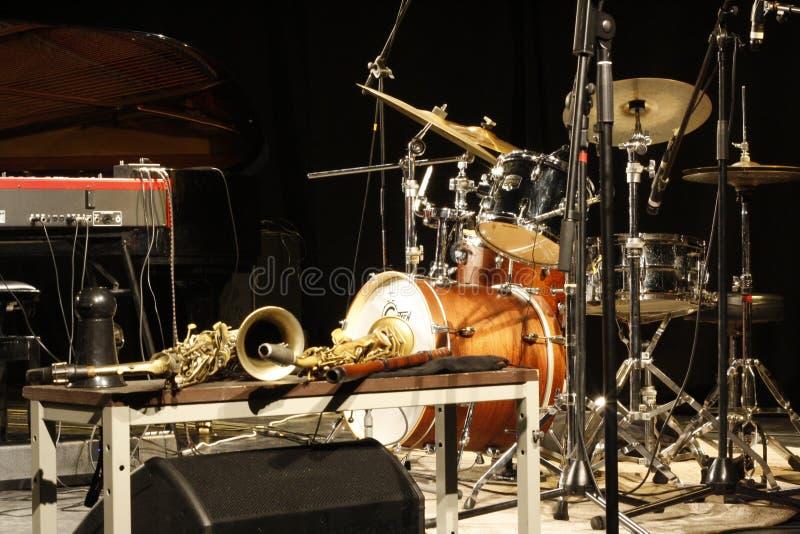 Instrumentos do jazz fotos de stock