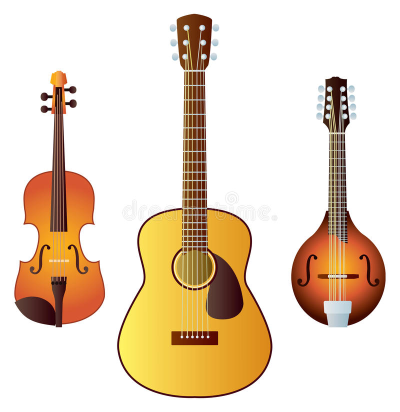 Instrumentos encadenados occidentales ilustración del vector