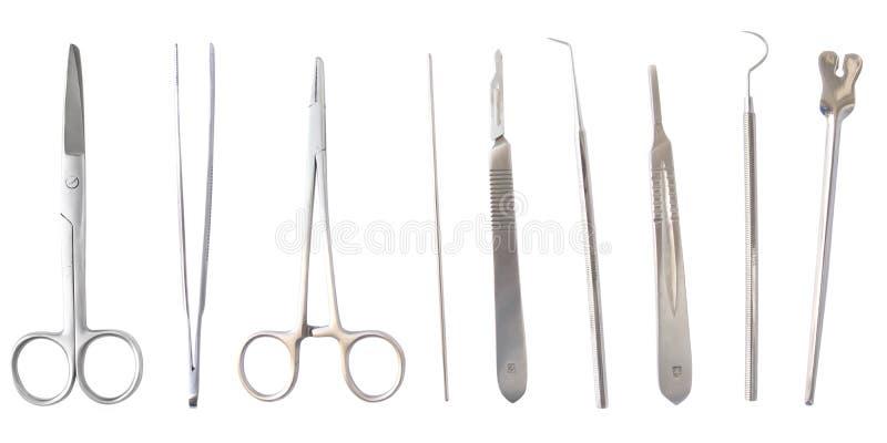 Instrumentos médicos isolados foto de stock