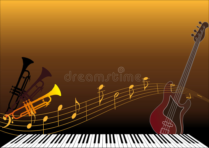 Instrumentos musicais ilustração stock