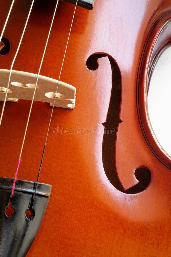 Instrumentos musicais: close up do violino fotografia de stock