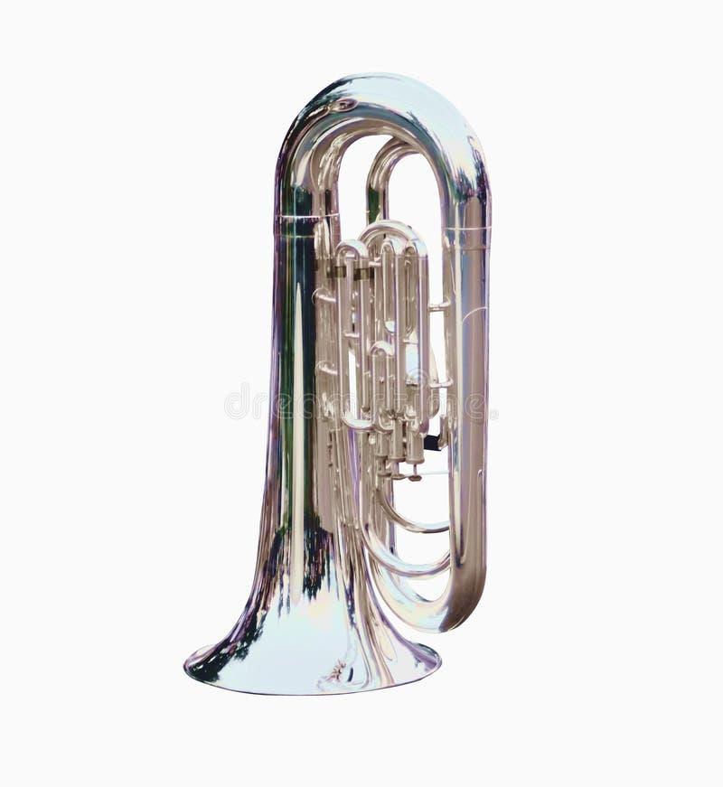 Instrumentos musicais de marcha do trombone perfeitos para marchar fotografia de stock