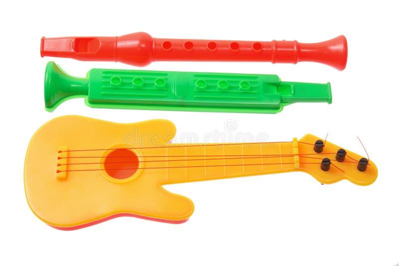 Instrumentos musicais do brinquedo fotografia de stock