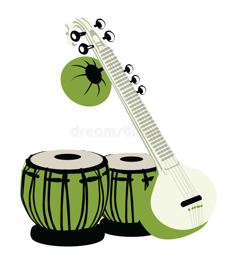 Instrumentos Musicais Indianos Fotos de Stock Royalty Free