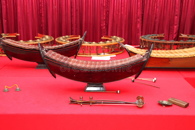 Instrumentos musicais tailandeses tradicionais fotografia de stock royalty free