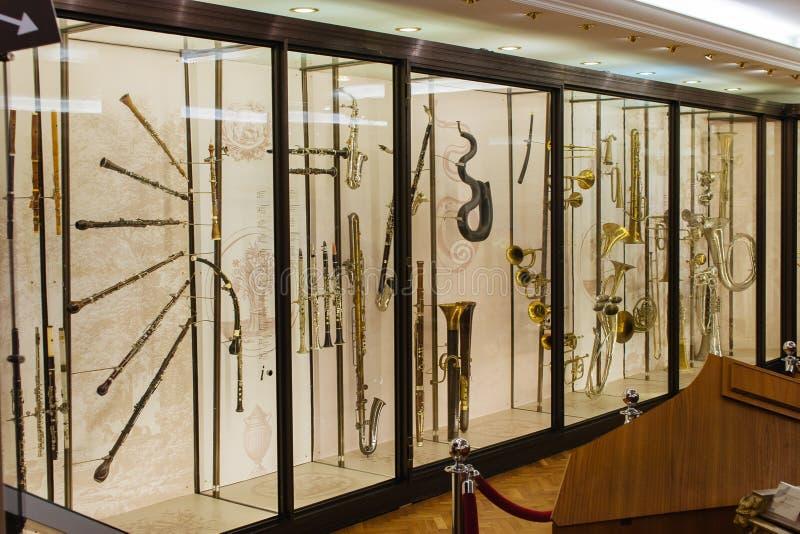 Instrumentos musicales del viento fotografía de archivo libre de regalías