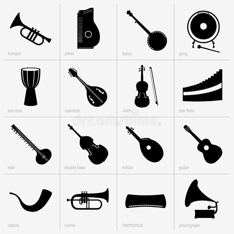 Instrumentos musicales (parte 2) stock de ilustración