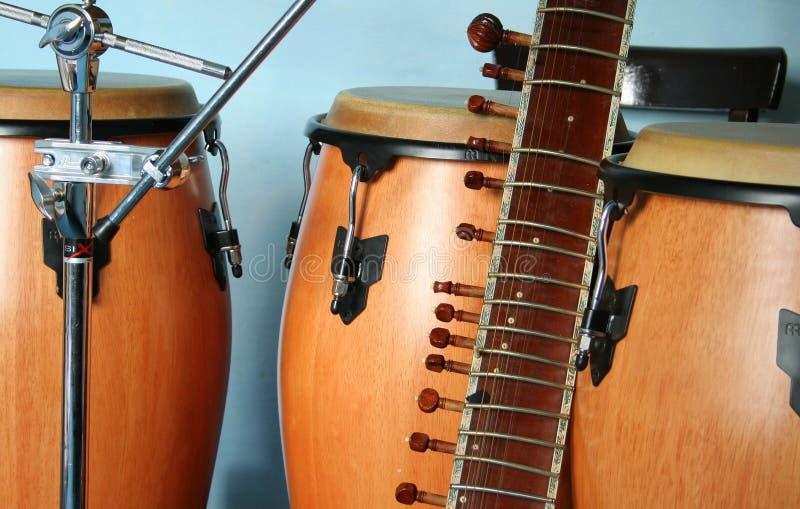 Instrumentos velhos fotografia de stock royalty free