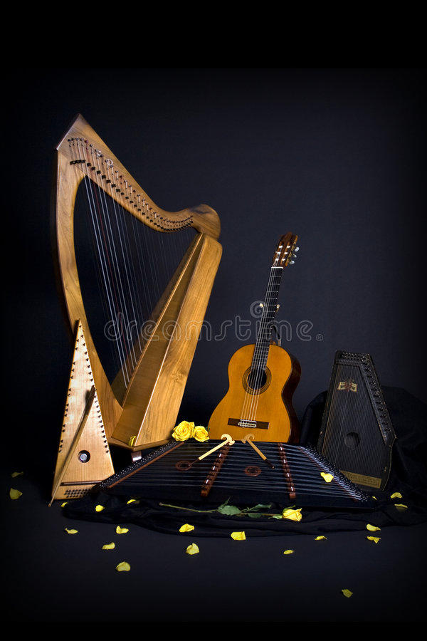 Free Instruments And Rose Royalty Free Stock Photos - 3281768