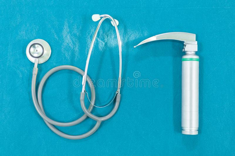Instruments Of an Anesthesiologist. On Opareting Room stock images