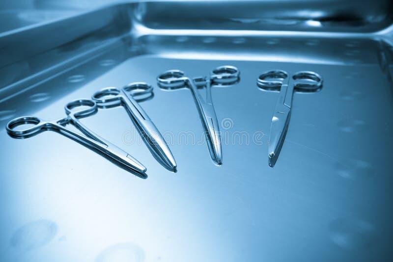 Instruments chirurgicaux. Concept médical. image libre de droits