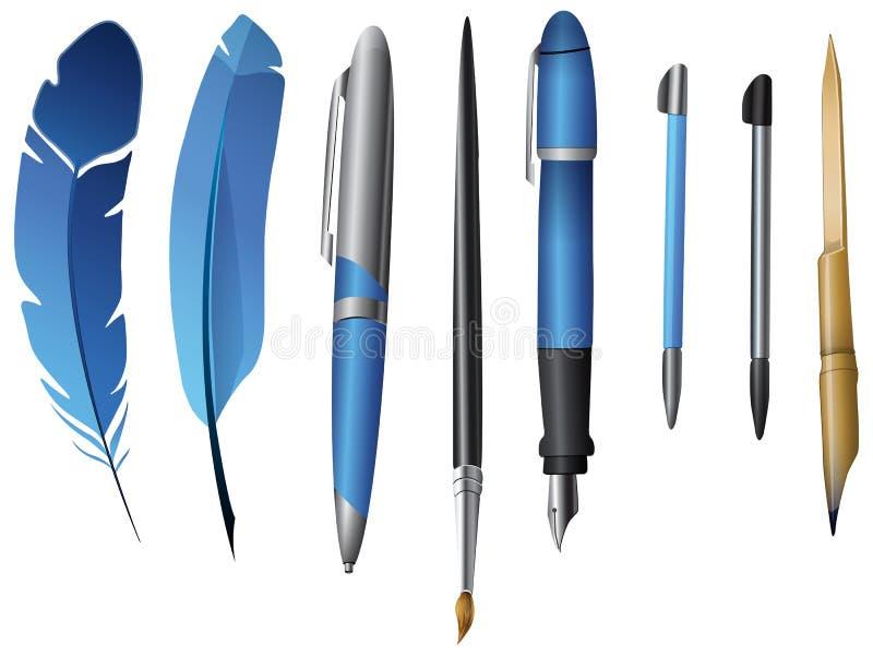 Instruments d'écriture illustration libre de droits